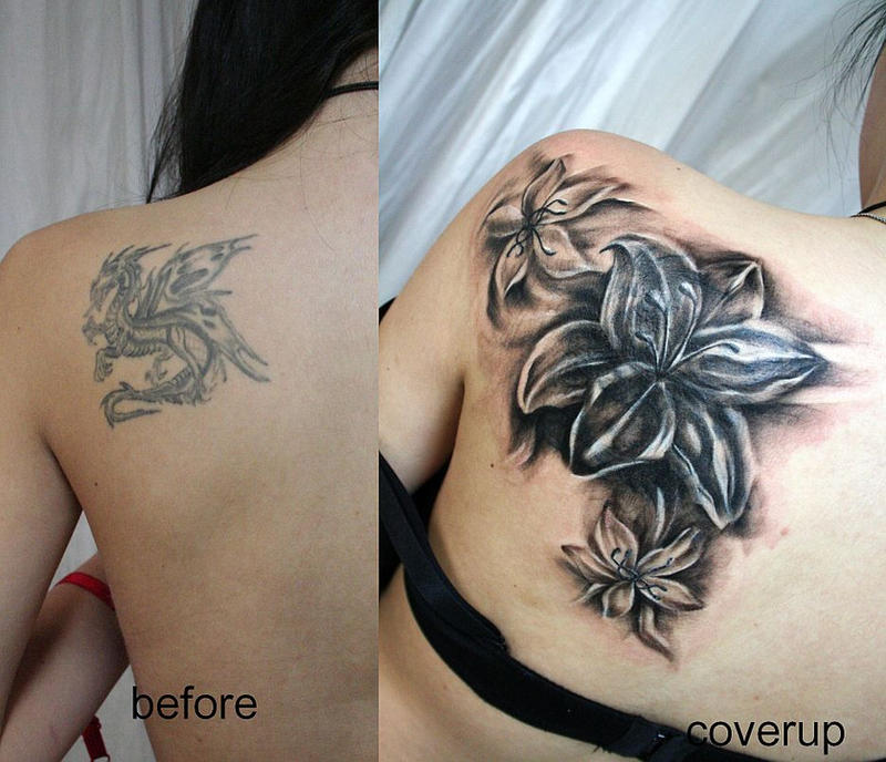 Cover up new flowers tat by 2face tattoo on deviantart for Cover up chest tattoos