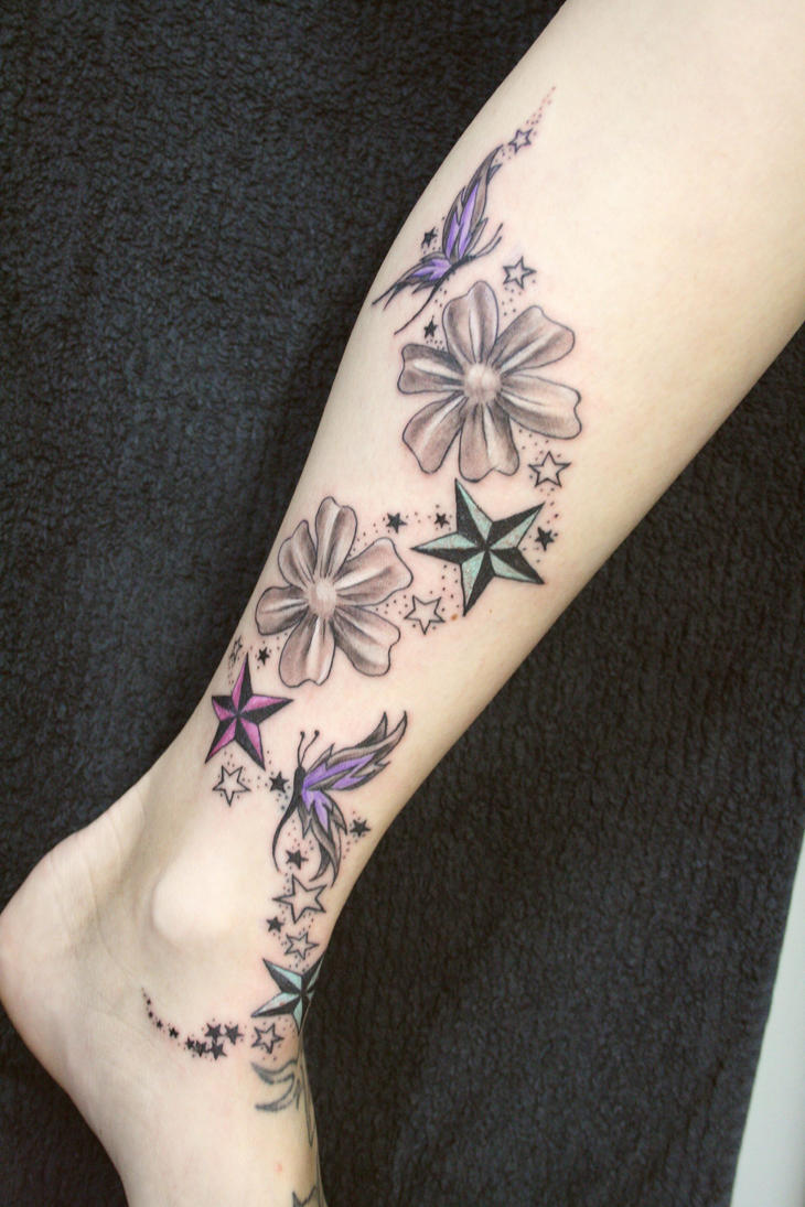 Mohit 39 s blog lg ari ck nk amek school ofcopied in the for Star and flower tattoos