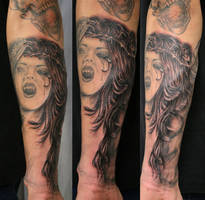 Horror Arm Sleeve 2 TaT by 2Face-Tattoo