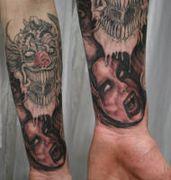 Horror Arm Sleeve 1 TaT by 2Face-Tattoo