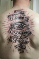 Chicano Name  shining eye TaT by 2Face-Tattoo