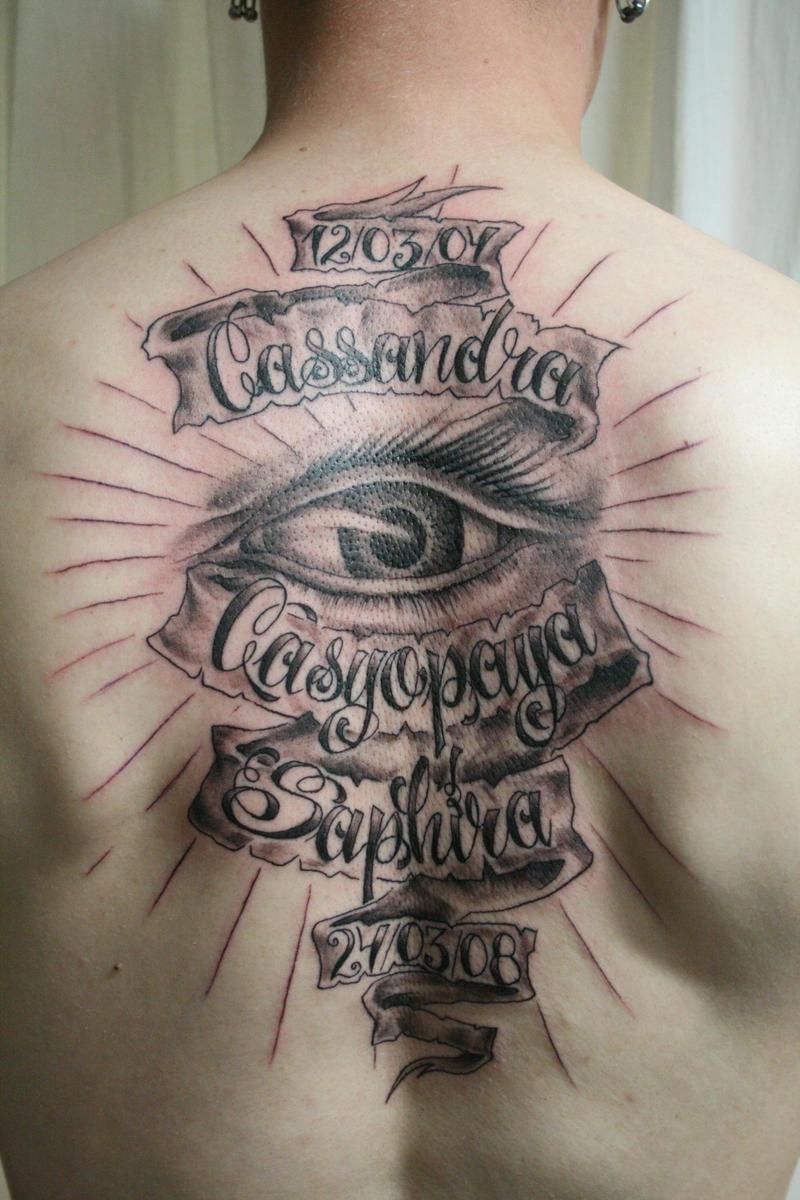 Chicano Name  shining eye TaT