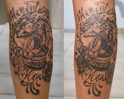 Sugar Skull Butterflies Rose by 2Face-Tattoo