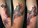 Cross Shine Rosary Tattoo