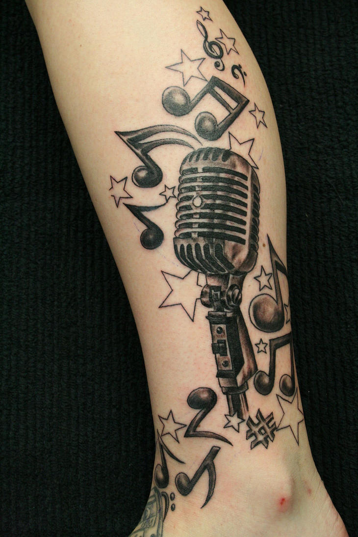 music crazy micro tat by 2face tattoo on deviantart. Black Bedroom Furniture Sets. Home Design Ideas