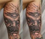 Horror Demon Face Eye TaT