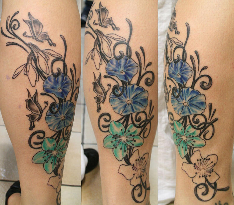 Month Of May Flower Tattoos 1 session flowers tattoo byMonth Of May Flower Tattoos