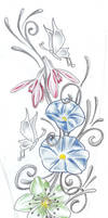 Butterflies Flowers TaT Design