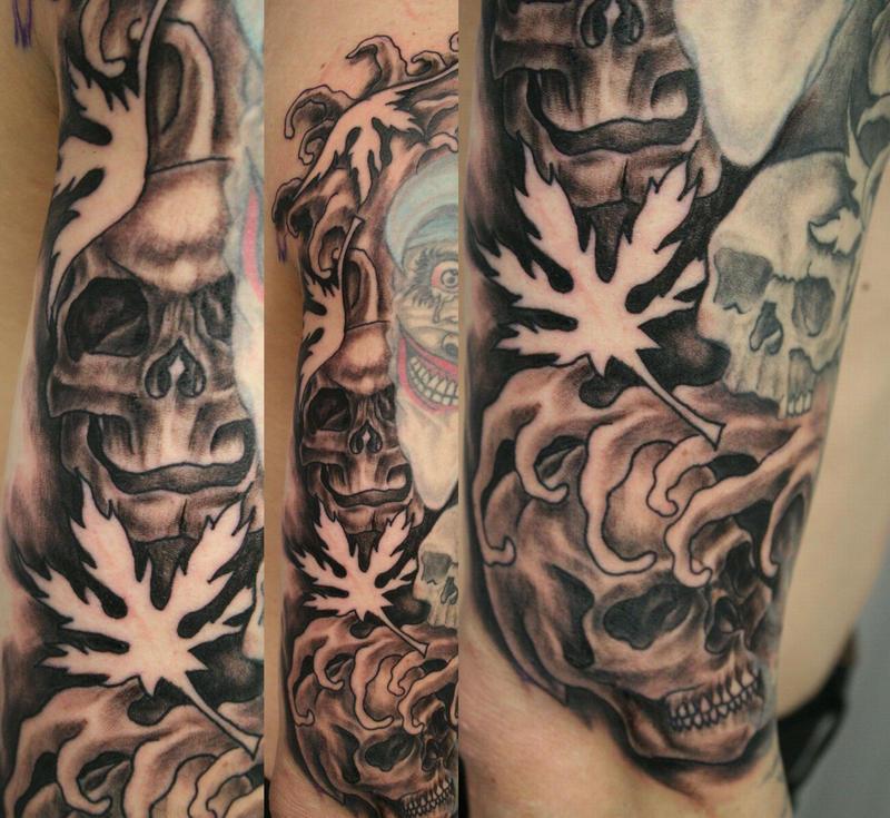 Skulls Skull Background By 2Face-Tattoo On DeviantArt