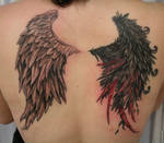 Angel Devil Bloody Wing TaT by 2Face-Tattoo