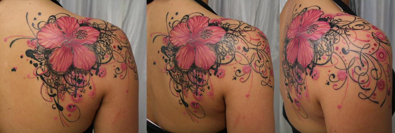 Blossom heart tribal climb BG by 2Face-Tattoo