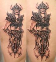 1 Session Viking Women TaT by 2Face-Tattoo