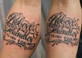 Chicano Lettering Name TaT by 2Face-Tattoo