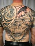Skull Celtic Backpiece TaT