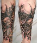 Armsleeve Skull Skulls Tattoo