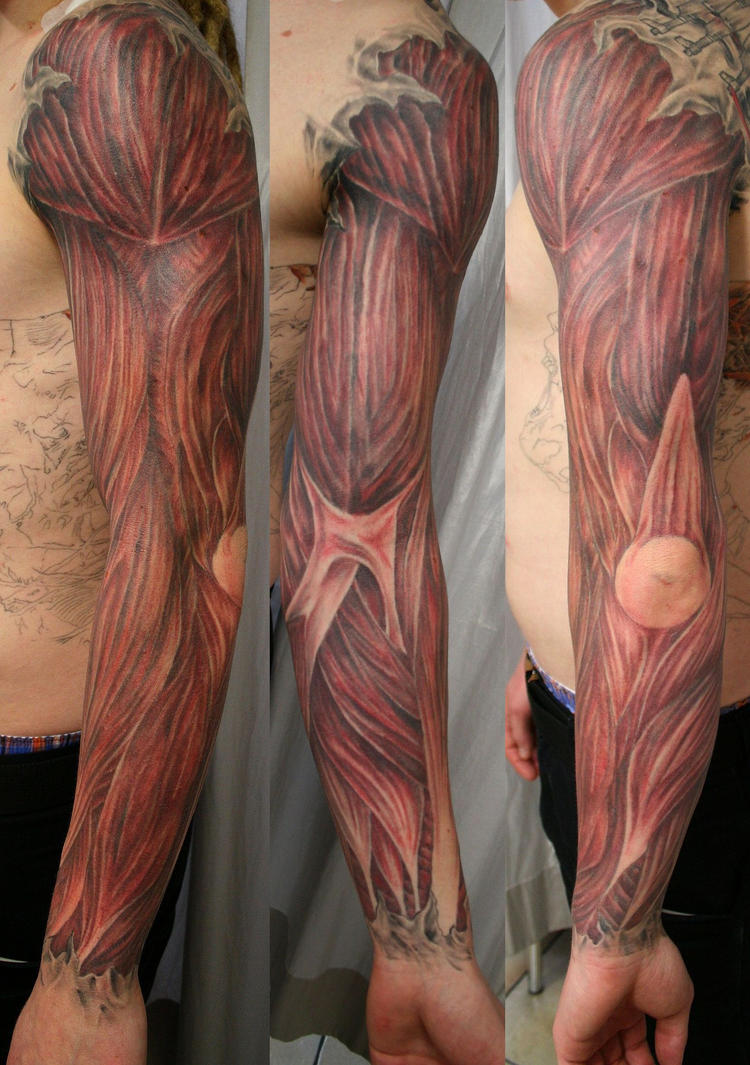 Muscle Armsleeve TaT 1 by 2Face-Tattoo