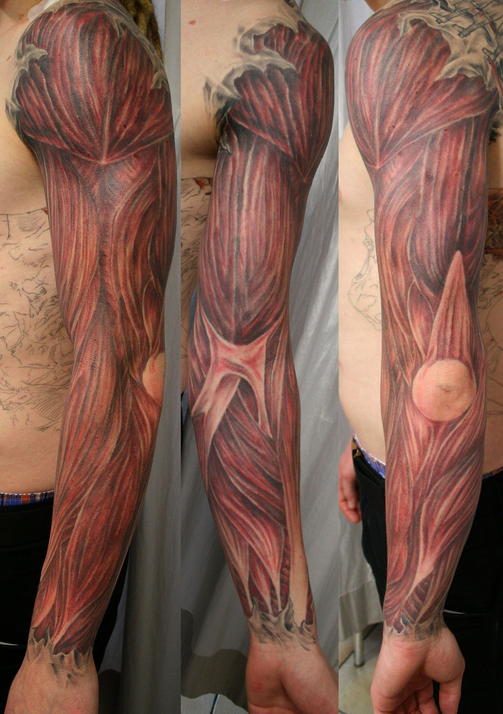 Muscle Tattoo Sleeve: Massage And Bodywork Professionals