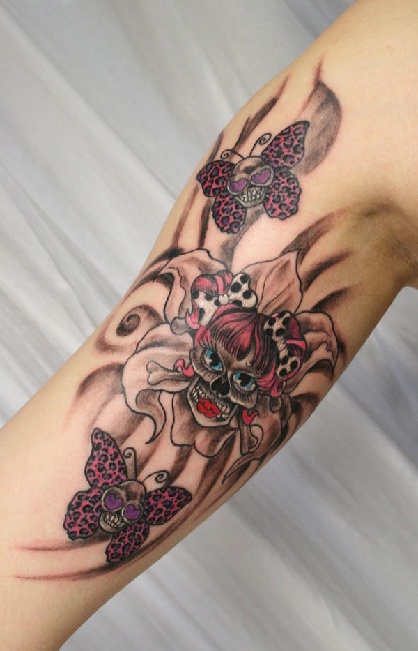 Girly Tattoo Designs For Arm