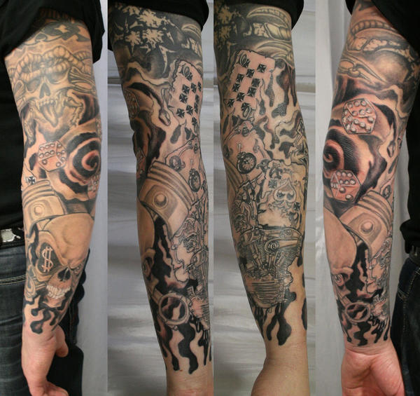 new school armsleeve ready tat by 2face tattoo on deviantart