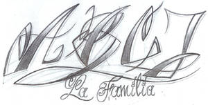 Lettering Style chicano by 2Face-Tattoo