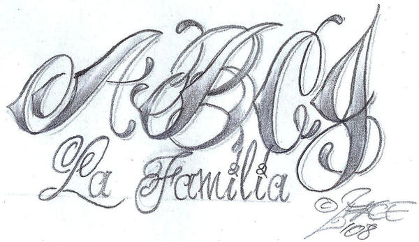 tattoo letters design. Chicano Style Lettering design by *2Face-Tattoo on deviantART