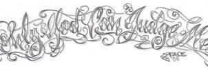 Chicano lettering God Design