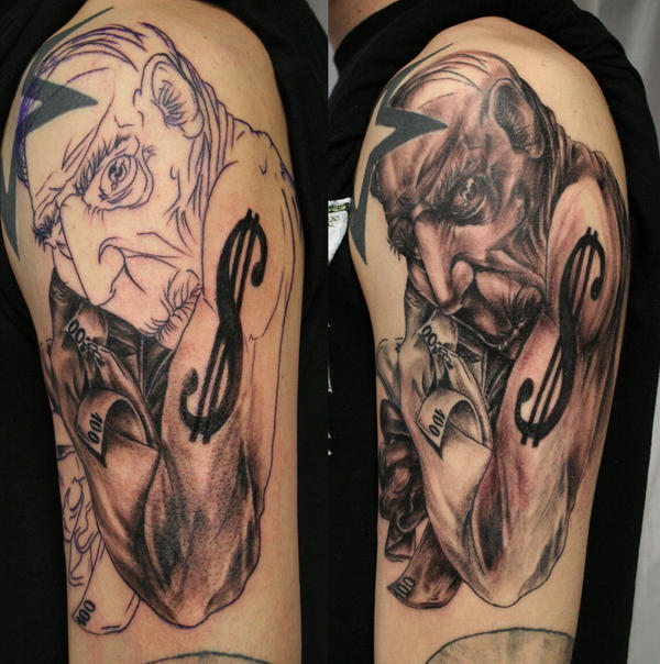 Old grumbling rich man TaT by 2Face-Tattoo