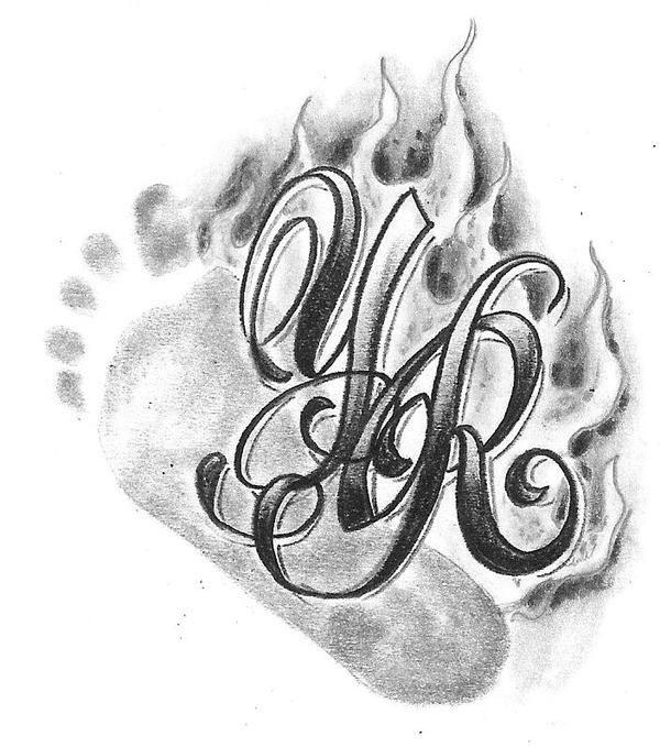 Chicano Letter Baby Foot Flame by 2FaceTattoo on deviantART