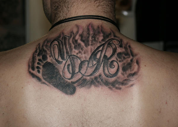 Letter Baby Foot Flame TaT