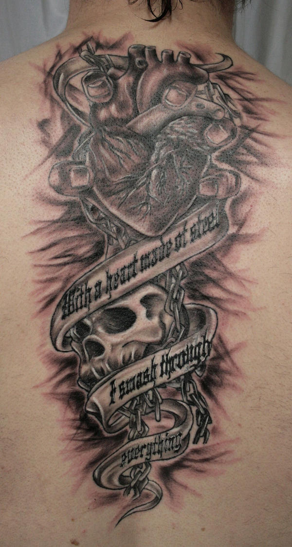 Pictures Of Real Heart Tattoo With Chains Rock Cafe