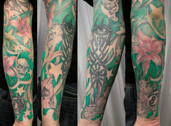 Next Session New School Cover - sleeve tattoo