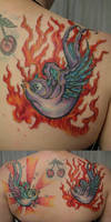 Swallow Color Devil BG TaT by 2Face-Tattoo
