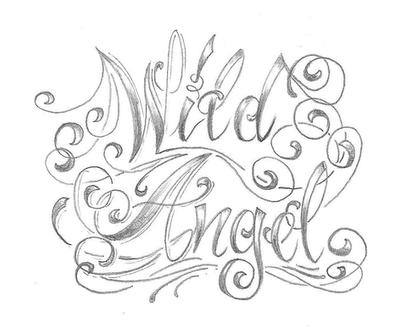 Chicano Letter Angel Desig By 2Face Tattoo