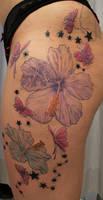 Butterflies Flowers in prog.