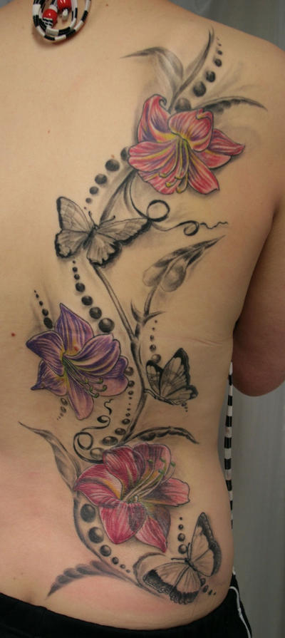 Butterfly Lily Ready By 2Face-Tattoo On DeviantArt