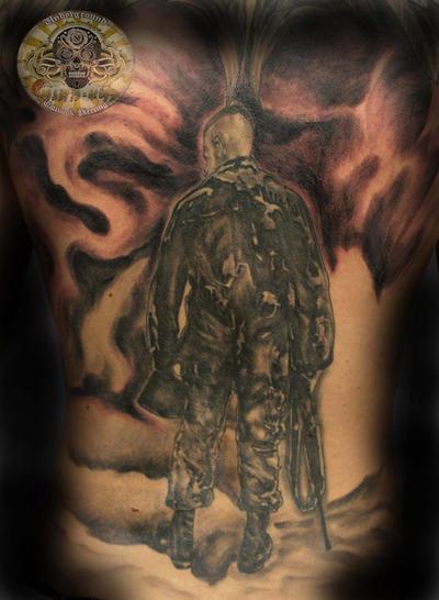Soldier Tattoo BG in prog.