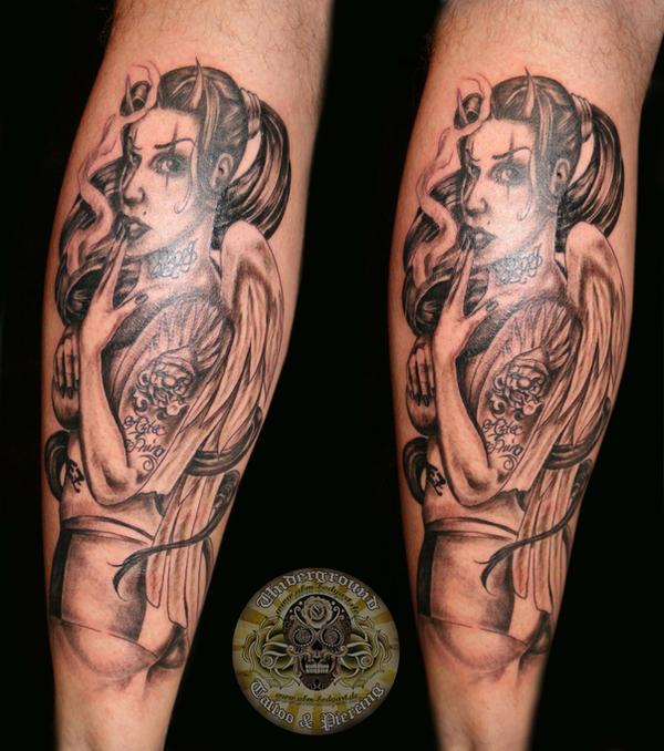 Chicana Devil Tattoo By 2face Tattoo On Deviantart