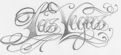 las vegas lettering by 2face tattoo on deviantart. Black Bedroom Furniture Sets. Home Design Ideas