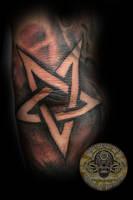 Pentagram TaT by 2Face-Tattoo