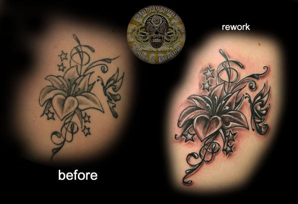 rework of a flower