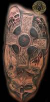 Skulls celtic cross Tattoo