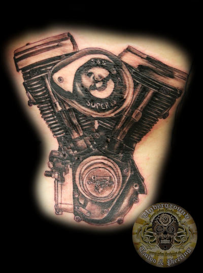 Harley engine TaT by 2Face-Tattoo on DeviantArt