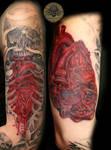 Heart Skull Armsleeve prog. 10