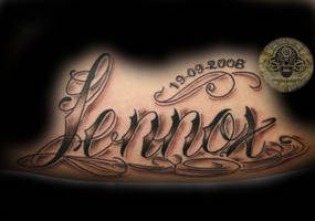 chicano script name by 2Face-Tattoo