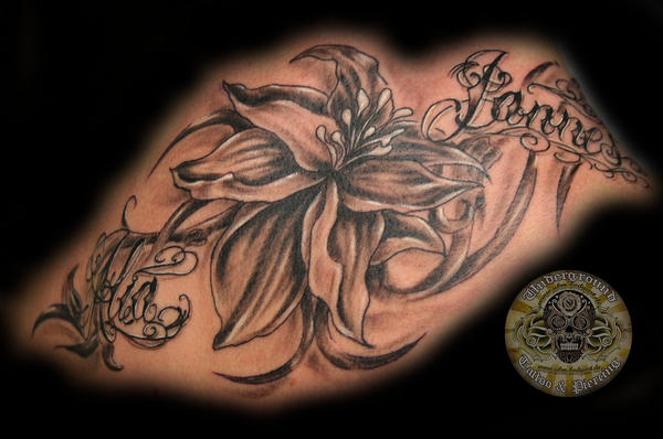 chicano script name flower - flower tattoo