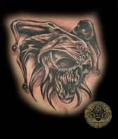 skull joker tat by 2Face-Tattoo