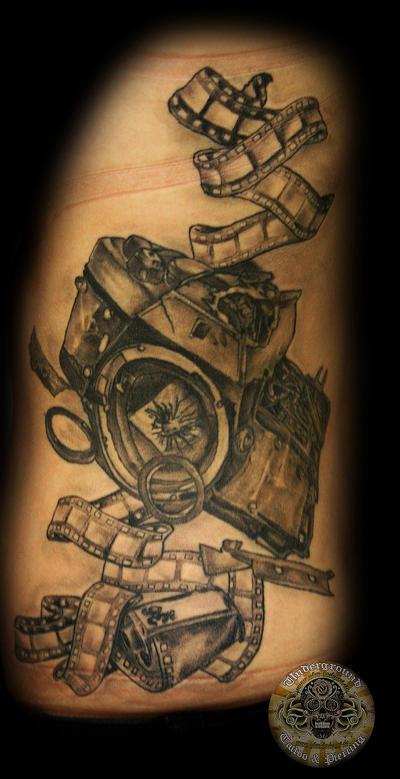 camera photo film healed by 2face tattoo on deviantart. Black Bedroom Furniture Sets. Home Design Ideas