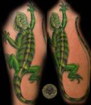 Iguana Big Tattoo Color