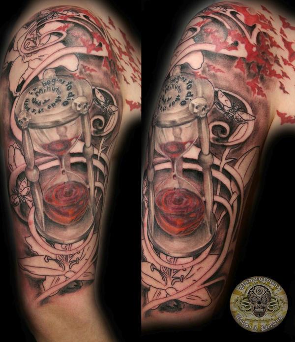 blood clock script skulls lily by 2face tattoo on deviantart. Black Bedroom Furniture Sets. Home Design Ideas
