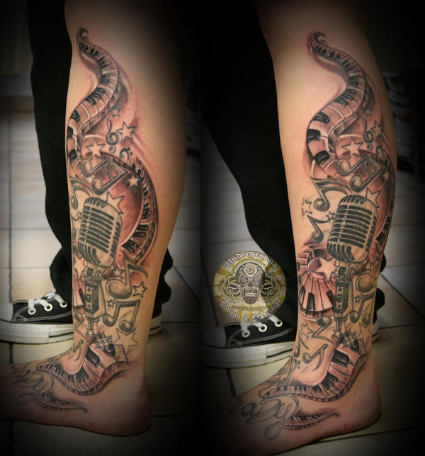 music micro note star tattoo by 2face tattoo on deviantart. Black Bedroom Furniture Sets. Home Design Ideas